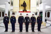 พิธีประดับยศข้าราชการวิทยาลัยการทัพอากาศ กรมยุทธศึกษาทหารอากาศ